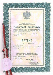 Patent Układ ważący w systemie sterowania podajnika komorowego.