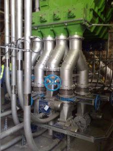Transport pneumatyczny biomasy do kotła